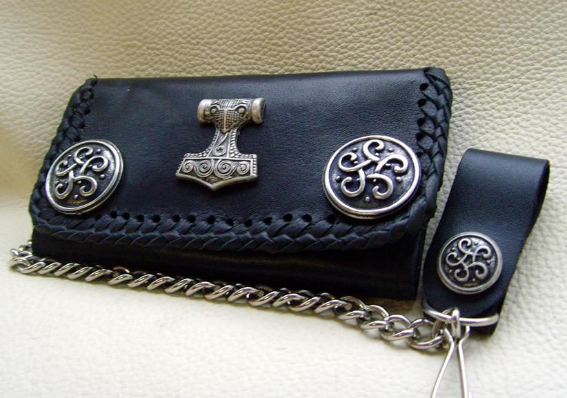 biker b rse celtic thor hammer schwarz oder braun wallet leder. Black Bedroom Furniture Sets. Home Design Ideas