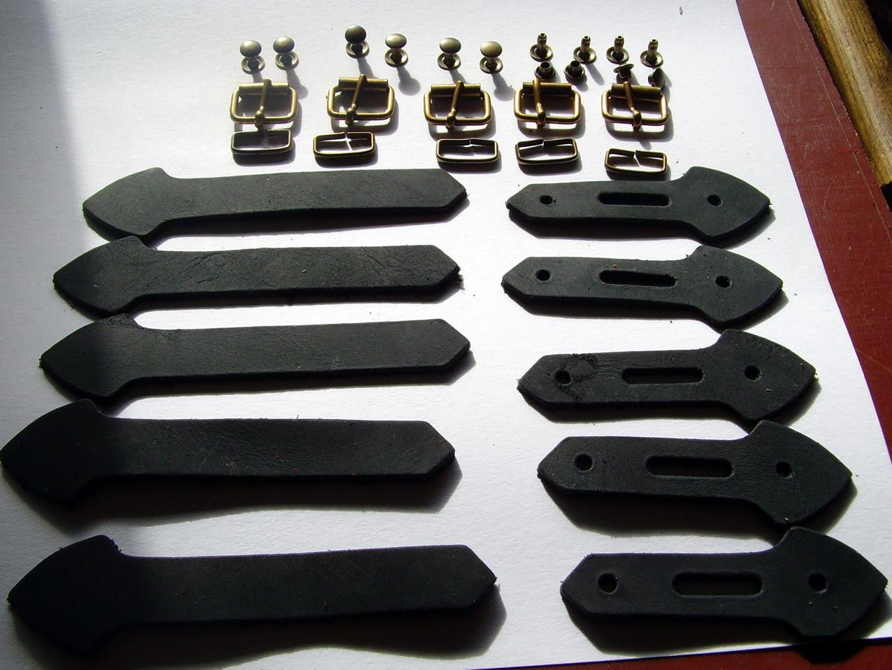 lederriemen set 16 mm schnallen messing lederverschluss. Black Bedroom Furniture Sets. Home Design Ideas